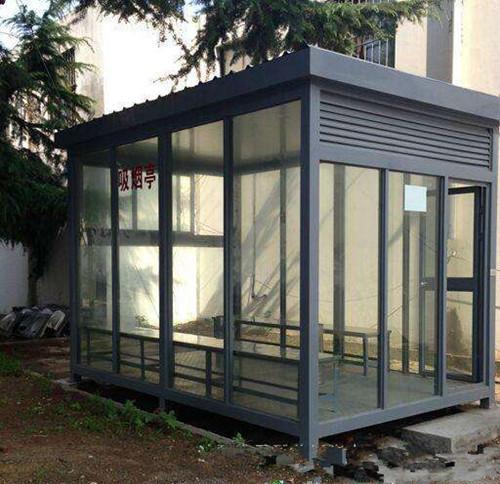 宿迁市三台山森林公园设立首个室外吸烟亭